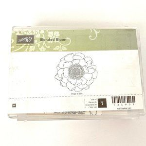 Stampin Up Blended Bloom Single Wood Mount Stamp